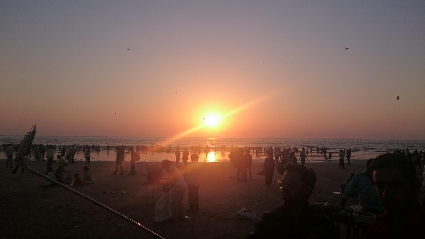 Sunset Juhu Beach Mumbai
