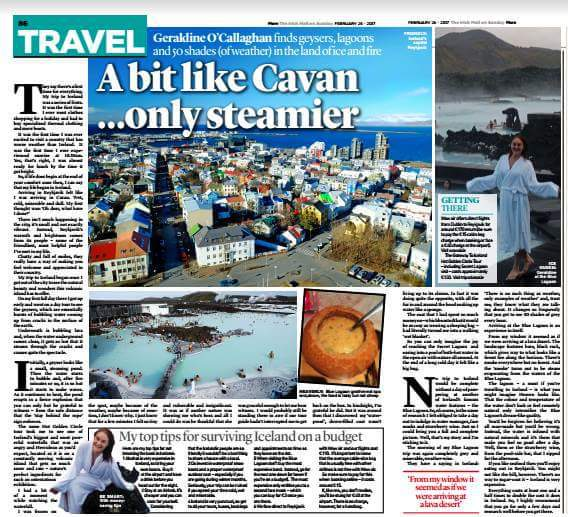 Iceland for Irish Daily Mail