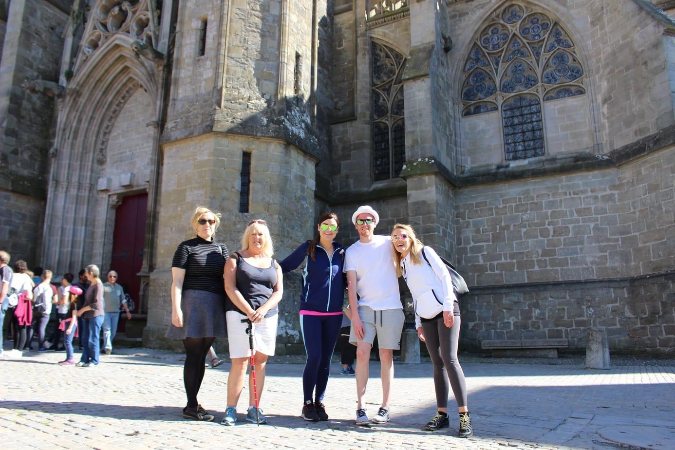 Friends at la cite carcassonne