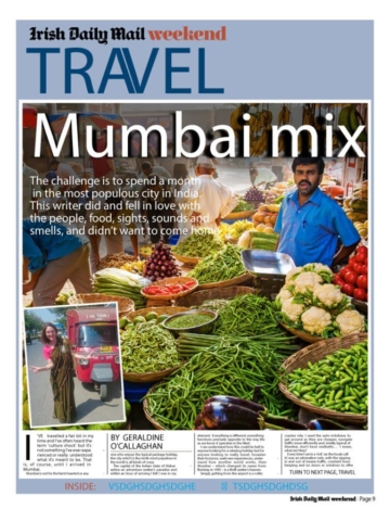 Mumbai Cover Page Irish Daily Mail