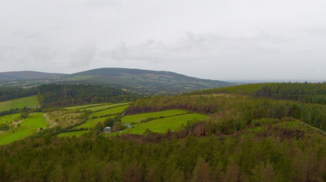 Views over the Wicklow mountains