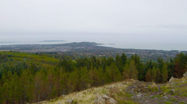 View from the top of The Scalp peak in Wicklow