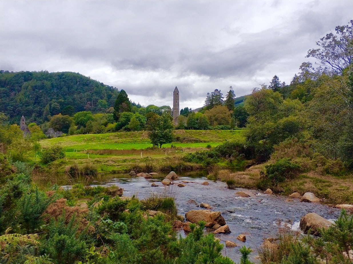 Glendalough round tower, Wicklow Mountains