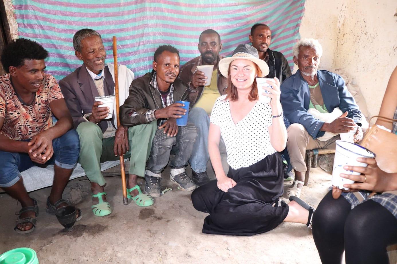 Drinking Tella in Ethiopia