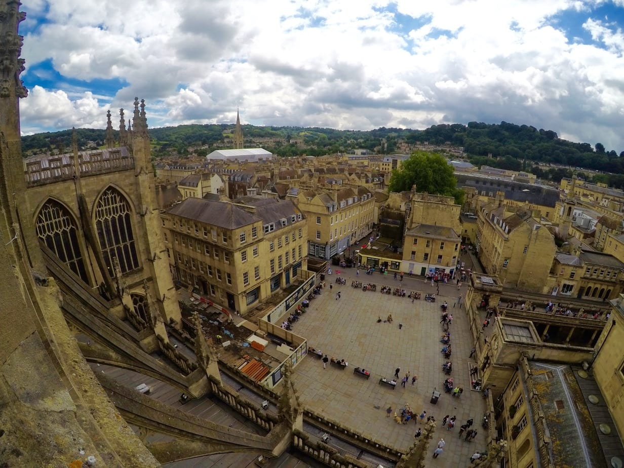 Views over Bath, England
