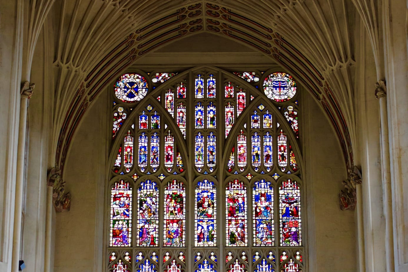 Stained Glass of Bath Abbey