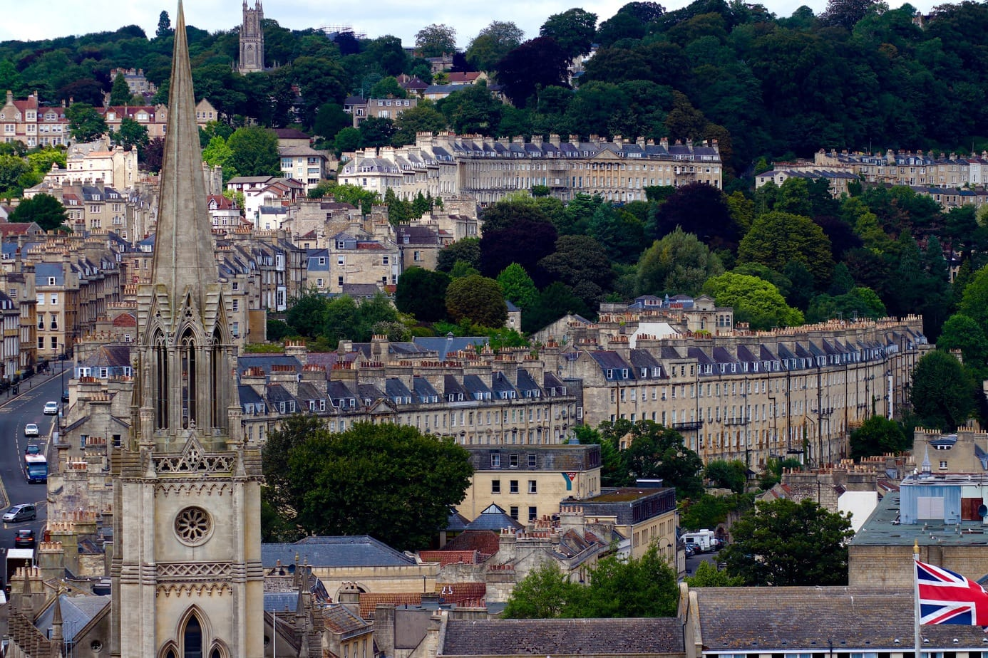 Views over Bath, UK