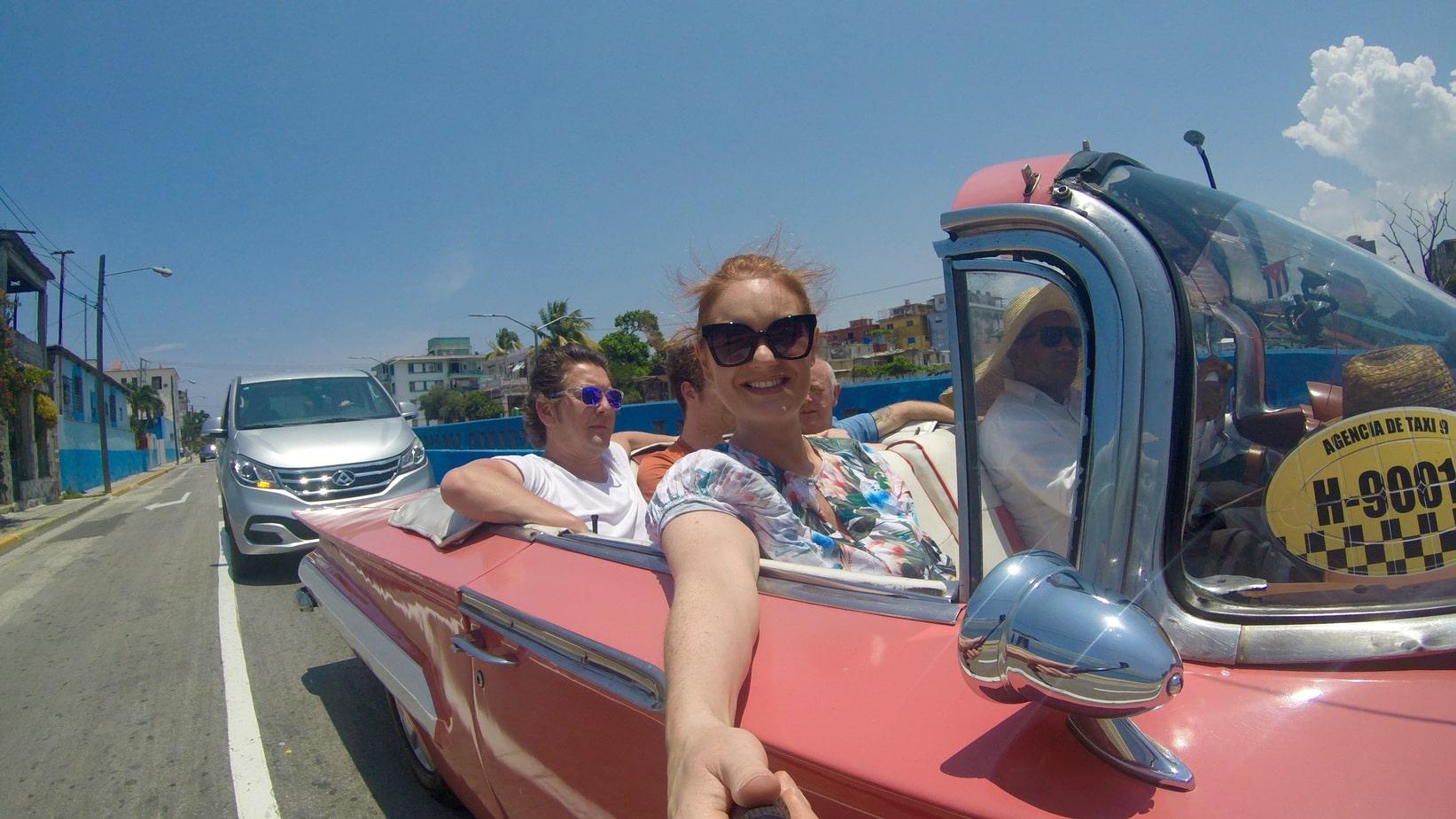 American Classic Car Taxi in Cuba