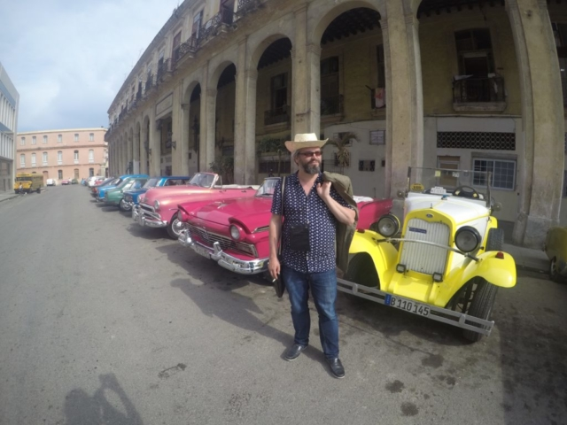 Cowboy and American Classic Cars in Havana