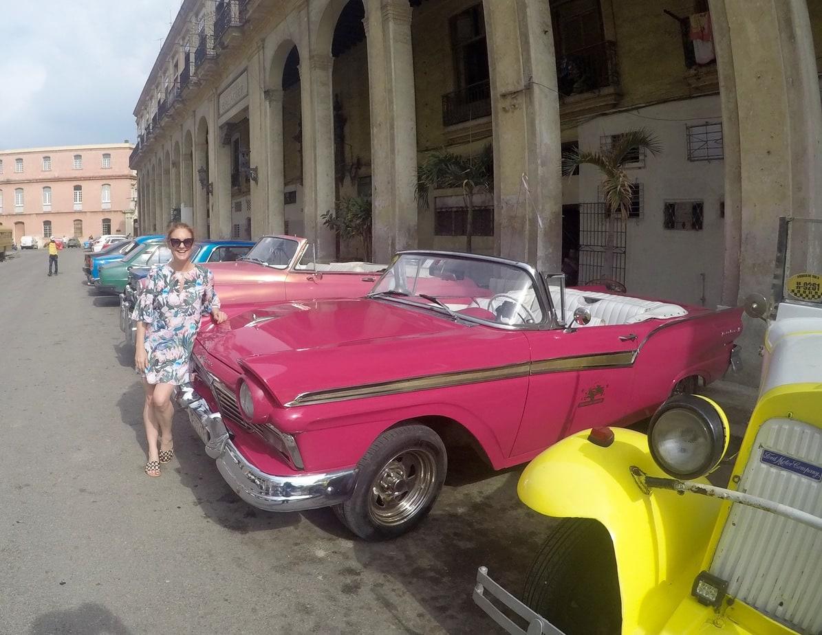 Pink Cadillac in Havana